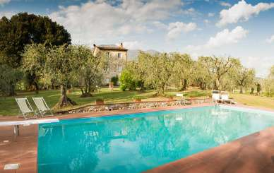 Villa Pool at Villa SAL CTO (Casa Tonio) at Tuscany/Lucca, Italy, Family-Friendly, Pool, 3 Bedroom, 2 Bathroom, WiFi, WIMCO Villas