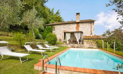 Villa Pool at Villa SAL FIO (Casa Fiora) at Tuscany/Lucca, Italy, Family-Friendly, Pool, 3 Bedroom, 3 Bathroom, WiFi, WIMCO Villas