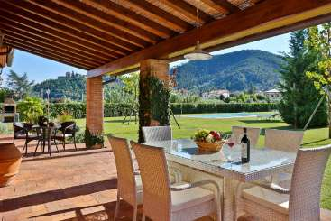 Terrace at Villa SAL LEV (Le Vigne) at Tuscany/Lucca, Italy, Family-Friendly, Pool, 4 Bedroom, 3 Bathroom, WiFi, WIMCO Villas