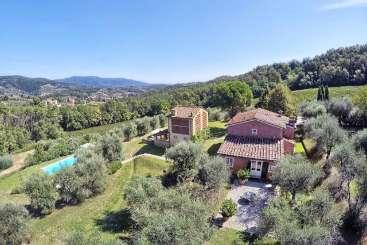 Aerial photo of Villa SAL PER (Le Pergole) at Tuscany/Lucca, Italy, Family-Friendly, Pool, 5 Bedroom, 5 Bathroom, WiFi, WIMCO Villas