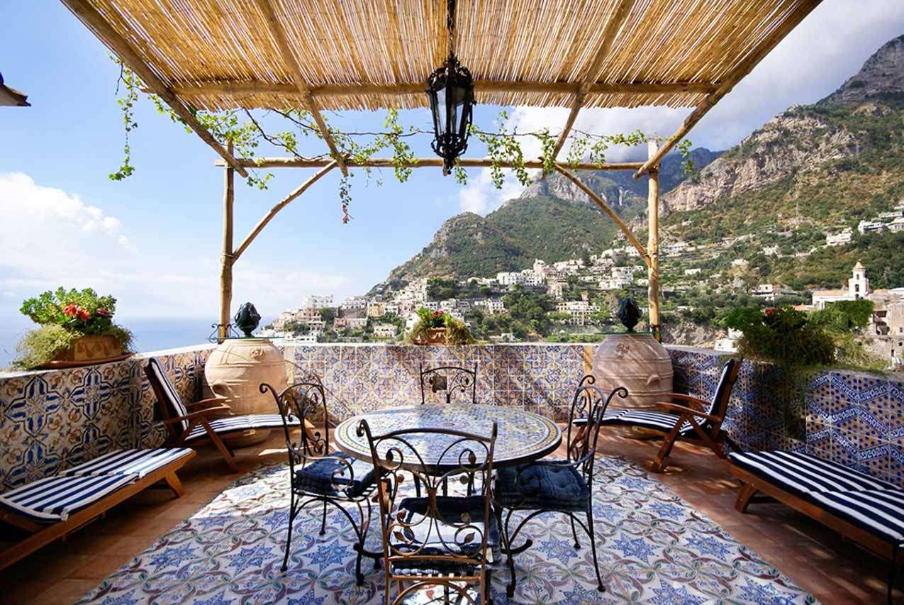 Terrace at Villa YPI CER (La Ceramica) at Amalfi Coast, Italy, No Pool, 2 Bedroom, 2 Bathroom, WiFi, WIMCO Villas