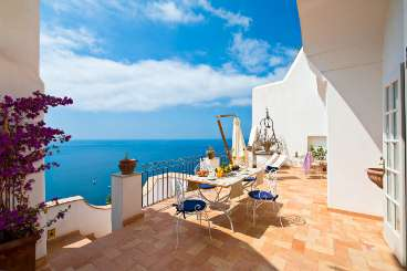 Veranda at Villa YPI ELI (Elisa) at Amalfi Coast, Italy, Family-Friendly, No Pool, 3 Bedroom, 3 Bathroom, WiFi, WIMCO Villas