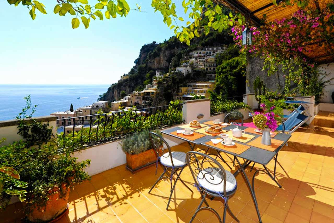 Terrace at Villa YPI GIA (Il Giardinetto) at Amalfi Coast, Italy, Family-Friendly, No Pool, 2 Bedroom, 2 Bathroom, WiFi, WIMCO Villas