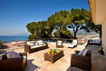 Veranda at Villa YPI SOR (Villa Sorrento) at Sorrento Coast, Italy, Family-Friendly, Pool, 6 Bedroom, 6 Bathroom, WiFi, WIMCO Villas