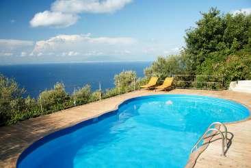 Villa Pool at Villa YPI VEN (Venere) at Amalfi Coast - Capri, Italy, Family-Friendly, Pool, 5 Bedroom, 6 Bathroom, WiFi, WIMCO Villas