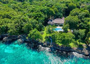Aerial photo of Villa JAM ERV (Eight Rivers) at Ocho Rios, Jamaica, Family-Friendly, Pool, 4 Bedroom, 4 Bathroom, WiFi, WIMCO Villas, Available for the Holidays