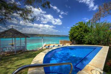 Villa Pool at Villa VL CHV (Sea Haven) at Discovery Bay, Jamaica, Family-Friendly, Pool, 4 Bedroom, 4 Bathroom, WiFi, WIMCO Villas, Available for the Holidays