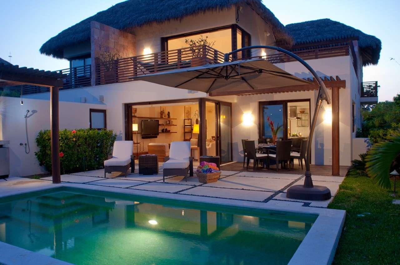 Villa Pool at Villa MEX AGM (Aguamarina - Porta Fortuna #6) at Punta Mita, Mexico, Family-Friendly, Pool, 3 Bedroom, 3 Bathroom, WiFi, WIMCO Villas