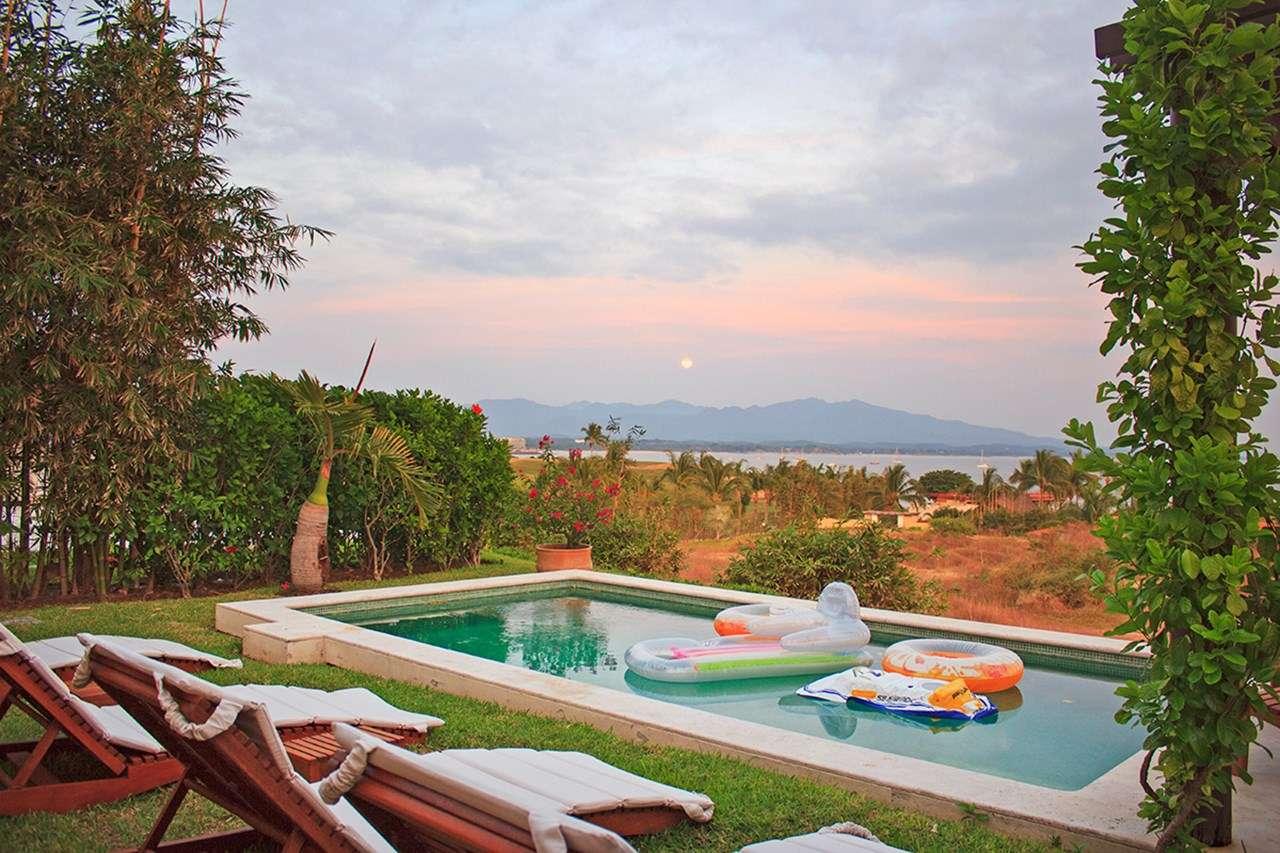 Villa Pool at Villa MEX ONI (Onix - Porta Fortuna Villa #2) at Punta Mita, Mexico, Family-Friendly, Pool, 3 Bedroom, 3 Bathroom, WiFi, WIMCO Villas