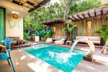 Villa Pool at Villa ML3 AML (Amalfi) at Tulum, Mexico, Family-Friendly, Pool, 5 Bedroom, 5 Bathroom, WiFi, WIMCO Villas