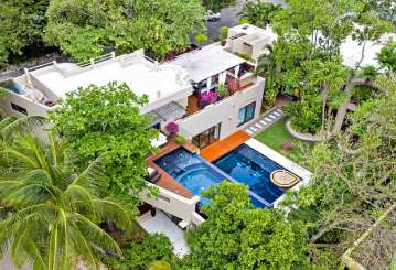 Aerial photo of Villa ML3 QUI (Quinta Clara) at Playa Del Carmen, Mexico, Family-Friendly, Pool, 7 Bedroom, 7 Bathroom, WiFi, WIMCO Villas