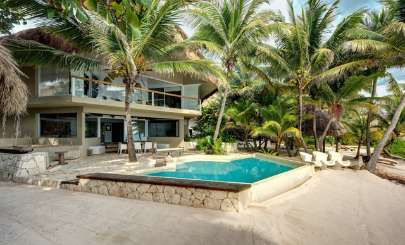 Exterior of Villa ML1 ZAC (Zacil Na) at Puerto Aventuras, Mexico, Family-Friendly, Pool, 5 Bedroom, 5 Bathroom, WiFi, WIMCO Villas