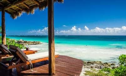 Deck at Villa ML6 MIR (Miramar) at Tulum, Mexico, Family-Friendly, Pool, 5 Bedroom, 5 Bathroom, WiFi, WIMCO Villas
