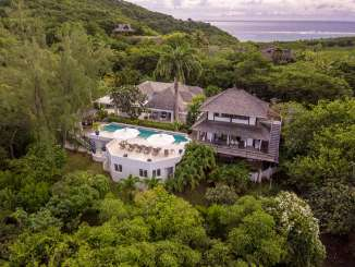 Aerial photo of Villa MV AZR (Azure) at Hillside, Mustique, Family-Friendly, Pool, 3 Bedroom, 3 Bathroom, WiFi, WIMCO Villas