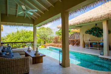 Terrace at Villa MV COT (Cottonwick) at Endeavor Point, Mustique, Family-Friendly, Pool, 2 Bedroom, 2 Bathroom, WiFi, WIMCO Villas