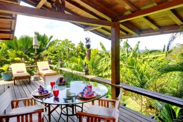 Terrace at Villa MV GAM (Gamalan) at Hillside, Mustique, Family-Friendly, No Pool, 2 Bedroom, 2 Bathroom, WiFi, WIMCO Villas