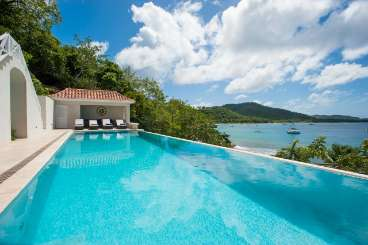 Villa Pool at Villa MV MES (Messellia) at Britannia Bay, Mustique, Family-Friendly, Pool, 2 Bedroom, 4 Bathroom, WiFi, WIMCO Villas, Available for the Holidays