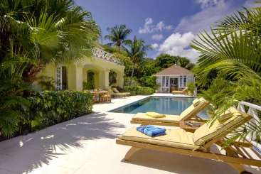 Villa Pool at Villa MV YEL (Yellowbird) at Hillside, Mustique, Family-Friendly, Pool, 3 Bedroom, 3 Bathroom, WiFi, WIMCO Villas