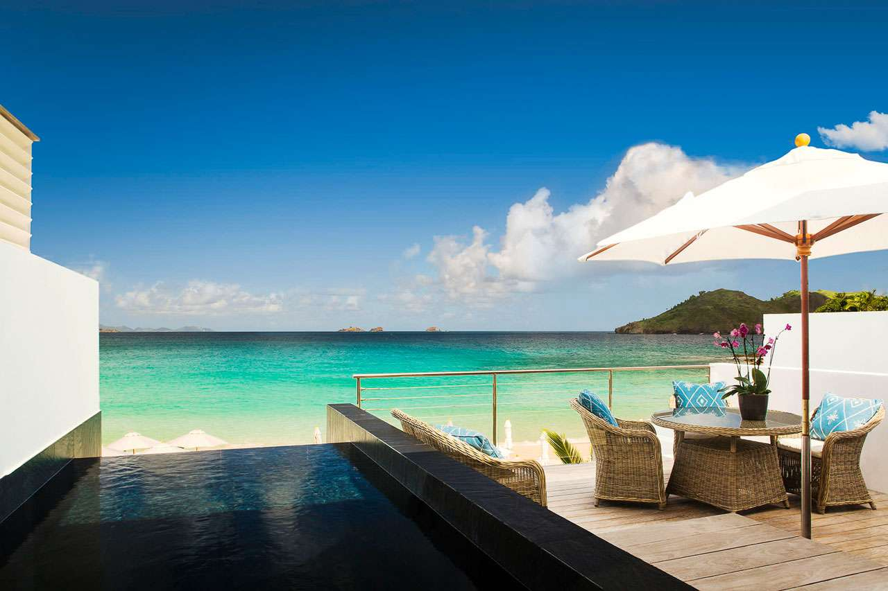 The view from Villa IDV 3BD (Flamands Suite) at Flamands Beach, St. Barthelemy, Family-Friendly, Pool, 3 Bedroom, 3 Bathroom, WiFi, WIMCO Villas