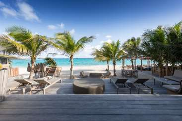 Deck at Villa PRL BFV (Pearl Beach ) at St. Jean Beach, St. Barthelemy, Family-Friendly, Pool, 2 Bedroom, 2 Bathroom, WiFi, WIMCO Villas