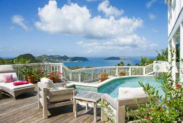 Deck at Villa WV ADA (Vagabond) at Petite Saline, St. Barthelemy, Pool, 3 Bedroom, 3 Bathroom, WiFi, WIMCO Villas
