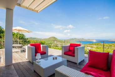 The view from Villa WV AGV (Ti Agave) at Vitet, St. Barthelemy, Pool, 1 Bedroom, 1 Bathroom, WiFi, WIMCO Villas
