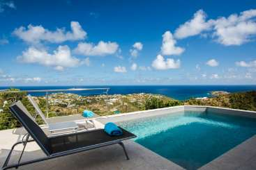 Villa Pool at Villa WV ALO (Alouette) at Vitet, St. Barthelemy, Family-Friendly, Pool, 1 Bedroom, 1 Bathroom, WiFi, WIMCO Villas, Available for the Holidays