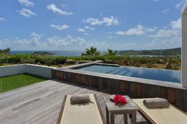 Deck at Villa WV APN (Alphane) at Mont Jean, St. Barthelemy, Family-Friendly, Pool, 1 Bedroom, 1 Bathroom, WiFi, WIMCO Villas