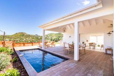 Villa Pool at Villa WV ASE (Anse Etoilee) at St. Jean, St. Barthelemy, Family-Friendly, Pool, 1 Bedroom, 1 Bathroom, WiFi, WIMCO Villas, Available for the Holidays