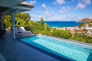 Villa Pool at Villa WV BLC (BEL ROC) at Flamands, St. Barthelemy, Family-Friendly, Pool, 2 Bedroom, 2 Bathroom, WiFi, WIMCO Villas, Available for the Holidays