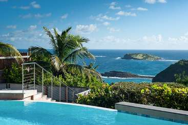 The view from Villa WV BON (Bonbonniere) at Pointe Milou, St. Barthelemy, Pool, 1 Bedroom, 2 Bathroom, WiFi, WIMCO Villas