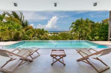 Villa Pool at Villa WV CBA (Palm) at Grand Cul de Sac, St. Barthelemy, Family-Friendly, Pool, 2 Bedroom, 2 Bathroom, WiFi, WIMCO Villas