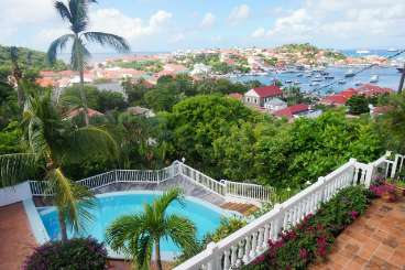 The view from Villa WV CCG (Colony Club A2) at Gustavia, St. Barthelemy, Family-Friendly, Pool, 1 Bedroom, 1 Bathroom, WiFi, WIMCO Villas