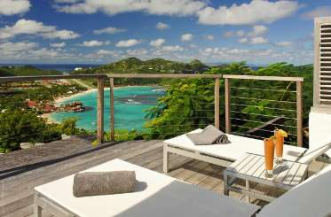 The view from Villa WV CCM (Coco de Mer) at St. Jean, St. Barthelemy, No Pool, 2 Bedroom, 3 Bathroom, WiFi, WIMCO Villas