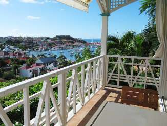 Terrace at Villa WV CCV (Colony Club A1 ) at Gustavia, St. Barthelemy, Family-Friendly, Pool, 1 Bedroom, 1 Bathroom, WiFi, WIMCO Villas