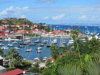 The view from Villa WV CCV (Colony Club A1) at Gustavia, St. Barthelemy, Family-Friendly, Pool, 1 Bedroom, 1 Bathroom, WiFi, WIMCO Villas
