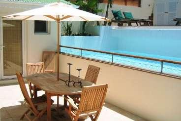Patio at Villa WV CEC (Case et Cuisine) at Marigot, St. Barthelemy, Family-Friendly, Pool, 2 Bedroom, 2 Bathroom, WiFi, WIMCO Villas