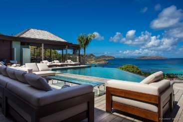 Deck at Villa WV CSK (Castle Rock) at Camaruche, St. Barthelemy, Family-Friendly, Pool, 5 Bedroom, 5 Bathroom, WiFi, WIMCO Villas