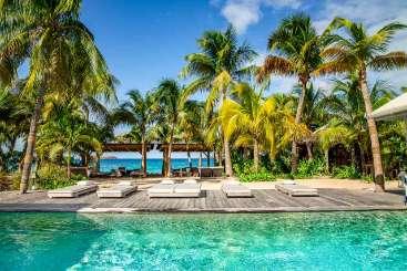 Villa Pool at Villa WV DEI (Dei Sogni ) at Lorient Beach, St. Barthelemy, Family-Friendly, Pool, 6 Bedroom, 6 Bathroom, WiFi, WIMCO Villas