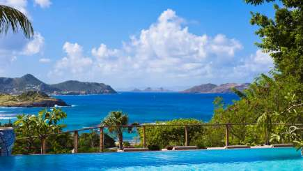 The view from Villa WV EKA (Veronika) at Camaruche, St. Barthelemy, Family-Friendly, Pool, 3 Bedroom, 3 Bathroom, WiFi, WIMCO Villas