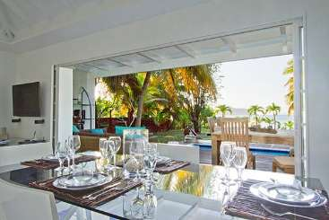 Dining Room at Villa WV EZE (Sea Breeze) at Lorient Beach, St. Barthelemy, Family-Friendly, Pool, 2 Bedroom, 2 Bathroom, WiFi, WIMCO Villas