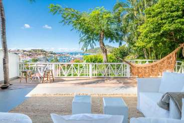 Deck at Villa WV FCC (Apartment Biba) at Gustavia, St. Barthelemy, Pool, 1 Bedroom, 1 Bathroom, WiFi, WIMCO Villas