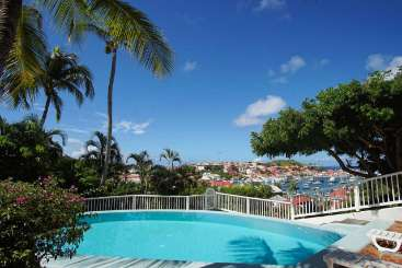 Villa Pool at Villa WV FCC (Apartment Colony Club) at Gustavia, St. Barthelemy, Pool, 1 Bedroom, 1 Bathroom, WiFi, WIMCO Villas, Available for the Holidays