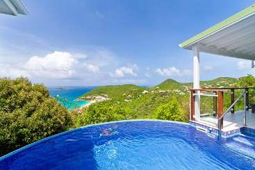 Villa Pool at Villa WV FLO (Villa Leana) at Colombier, St. Barthelemy, Family-Friendly, Pool, 1 Bedroom, 1 Bathroom, WiFi, WIMCO Villas, Available for the Holidays
