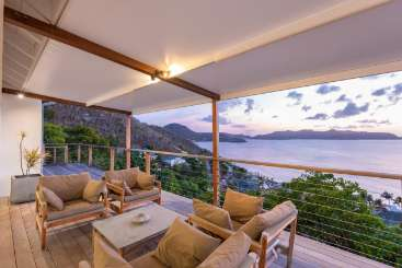 Terrace at Villa WV FWI (Loulou) at Pointe Milou, St. Barthelemy, Family-Friendly, Pool, 2 Bedroom, 2.5 Bathroom, WiFi, WIMCO Villas