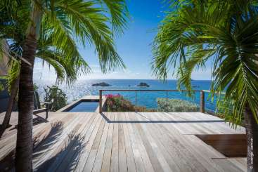 The view from Villa WV GUS (Gustavia Hill) at Gustavia, St. Barthelemy, Pool, 1 Bedroom, 1 Bathroom, WiFi, WIMCO Villas, Available for the Holidays