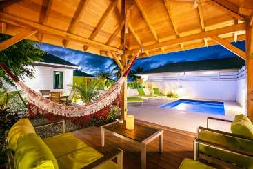 Gazebo at Villa WV LIL (Caza Lili) at Lorient, St. Barthelemy, Family-Friendly, Pool, 1 Bedroom, 1 Bathroom, WiFi, WIMCO Villas