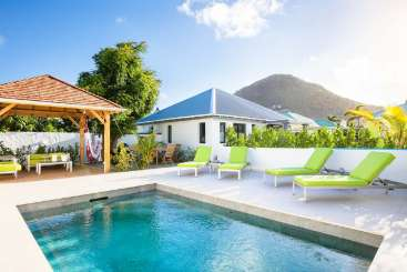 Villa Pool at Villa WV LIL (Caza Lili) at Lorient, St. Barthelemy, Family-Friendly, Pool, 1 Bedroom, 1 Bathroom, WiFi, WIMCO Villas