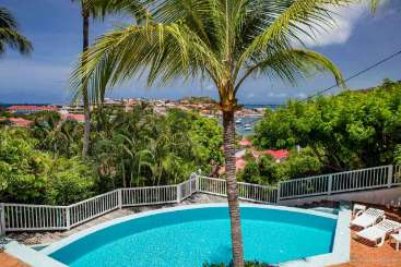 Villa Pool at Villa WV LKJ (Apartment Colony Club E2) at Gustavia, St. Barthelemy, Family-Friendly, Pool, 1 Bedroom, 1 Bathroom, WiFi, WIMCO Villas