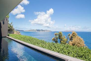 Villa Pool at Villa WV LOV1 (BelAmour) at Pointe Milou, St. Barthelemy, Family-Friendly, Pool, 1 Bedroom, 1 Bathroom, WiFi, WIMCO Villas